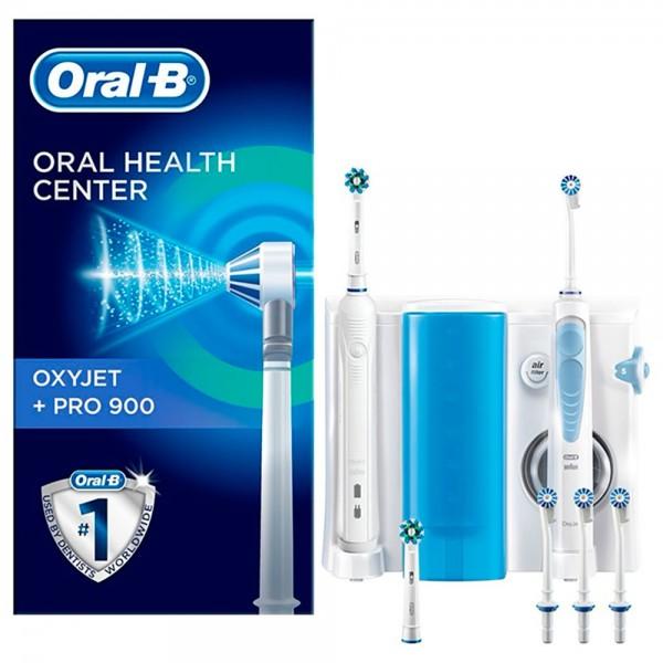 Braun oral-b centro de salud dental kit irrigador oxyjet + pro900 cepillo de dientes eléctrico