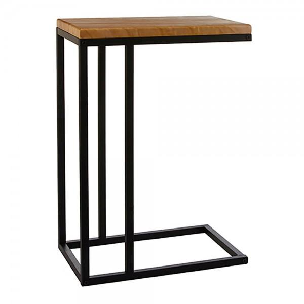Mesa auxiliar lateral oskar madera-negro 66x46x30cm