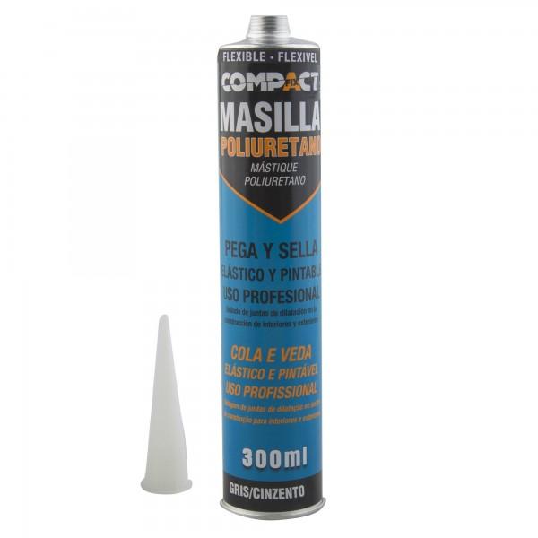 Masilla poliuretano flexible 300 gris